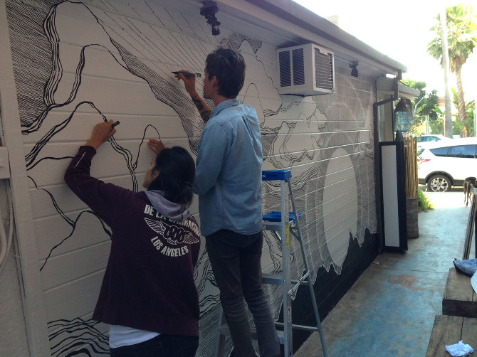 Another kind of sunrise dxa studio for Brandon boyd mural