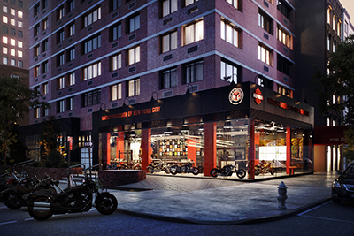 harley-davidson of new york city - assembly studio | spaces
